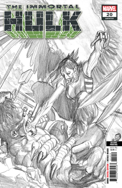 IMMORTAL HULK 20 ALEX ROSS SKETCH COVER 5 PACK FOR 30% OFF