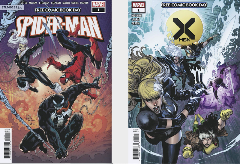 MARVEL X-MEN AND SPIDER-MAN FCBD 10 PACK!