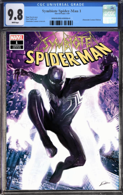 SYMBIOTE SPIDER-MAN 1 ALEXANDER LOZANO VARIANT OPTIONS - The Comic Mint