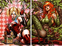 HARLEY QUINN & POISON IVY #6 MARK BROOKS CARD STOCK 10 PACK (5 HARLEY/5 IVY) FOR 40% OFF!