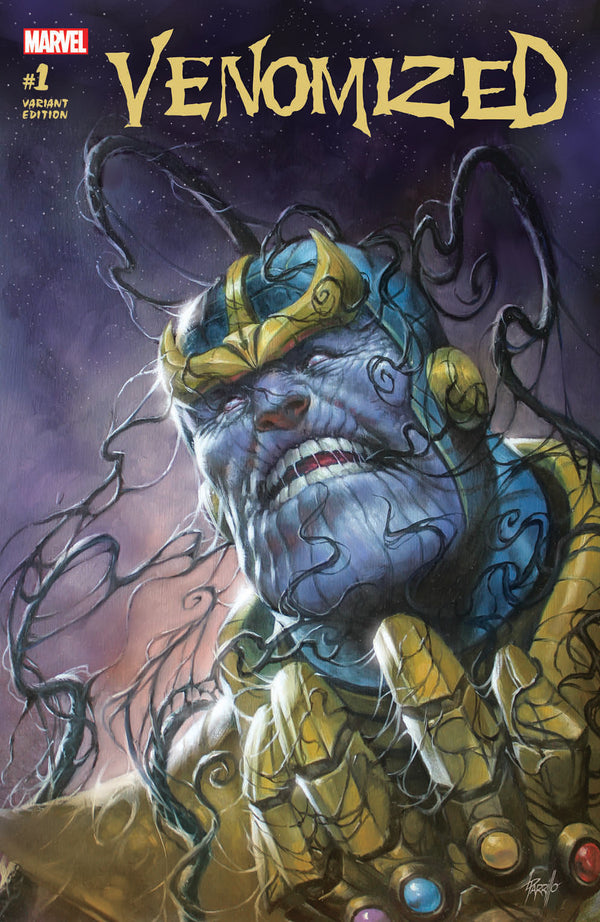 VENOMIZED 1 THANOS VARIANT BY LUCIO PARRILLO - The Comic Mint
