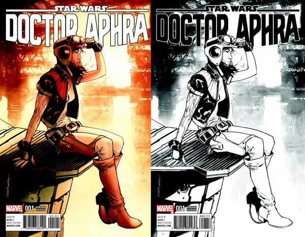 Dr. Aphra #1 Sara Pichelli Color and Black and White Variant Set NM or better