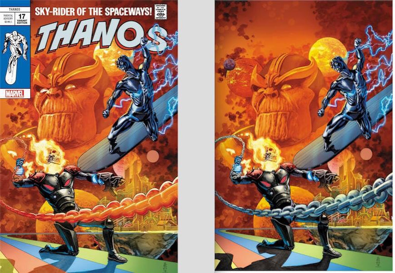 THANOS 17 COSMIC GHOST RIDER VARIANT BY J.G. JONES - The Comic Mint