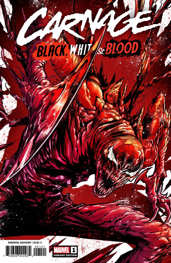CARNAGE BLACK WHITE AND BLOOD #1 CHECCHETTO 1:50 INCENTIVE RATIO FREE SHIPPING IN USA