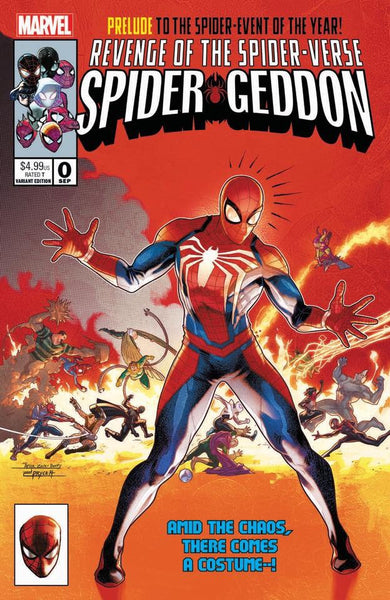 Spider-Geddon 0 Jamal Campbell Secret Wars 8 Homage Variant New Costume Options!