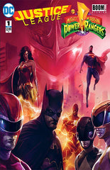 JUSTICE LEAGUE POWER RANGERS #1 FRANCESCO MATTINA EXCLUSIVE LIMITED VARIANT COVER