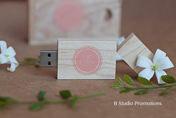 Rectangle Wooden USB