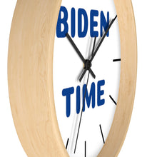 "Load image into Gallery viewer, ""Biden Time"" Wall clock (Blue)"