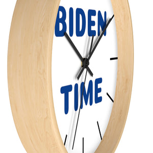"""Biden Time"" Wall clock (Blue)"