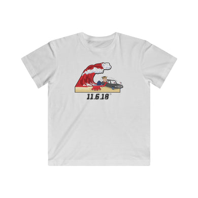 Red Wave (Trump & The Elephant On The Beach) - Kids Fine Jersey Tee