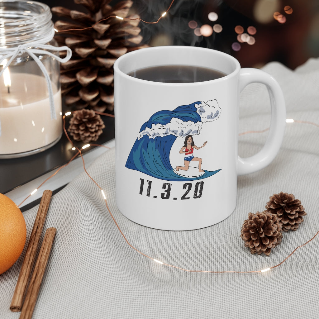 Kamala Blue Wave Coffee Mug