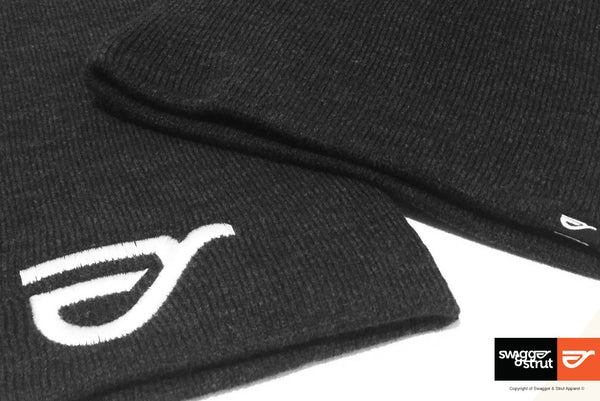 Charcoal Beanie with Swagger & Strut Embroidered Logo to the front