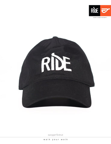 RIDE Logo DAVIE SIX PANEL CAP - Black