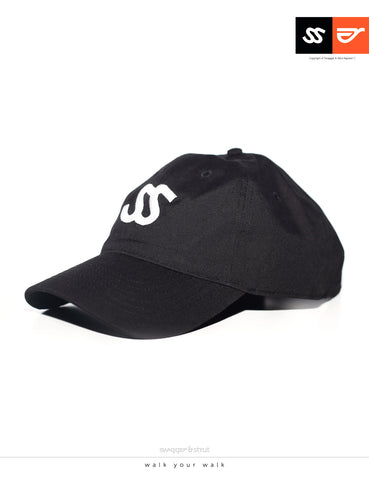 SS Logo DAVIE SIX PANEL CAP - Black