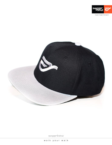 SS Logo Snapback - Dark Grey & Black