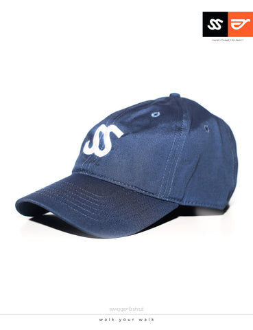 SS Logo DAVIE SIX PANEL CAP - Blue