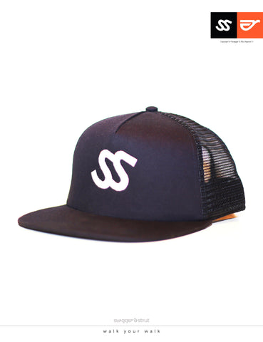 SS Logo TRUCKER CAP in Navy Blue