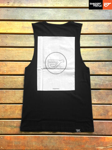 Black - Male Regular Fit Sleeveless Tall Tee