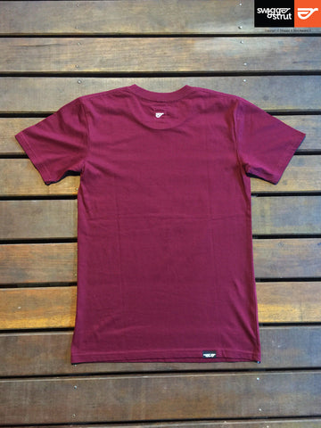 Burgundy - Male Regular Fit Classic T-Shirt