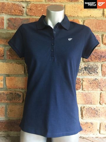 Navy - Female 100% Organic Pique Polo