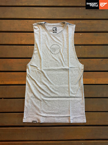 Grey Marle - Male Regular Fit Sleeveless Tank