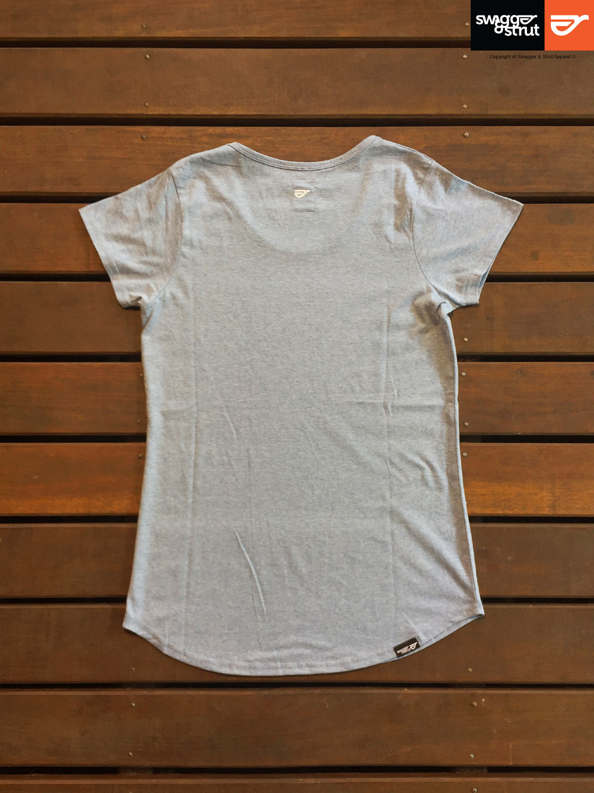 Light Blue Marle - Regular Fit, Ladies T-Shirt