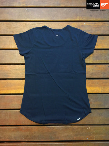Navy - Regular Fit, Ladies T-Shirt