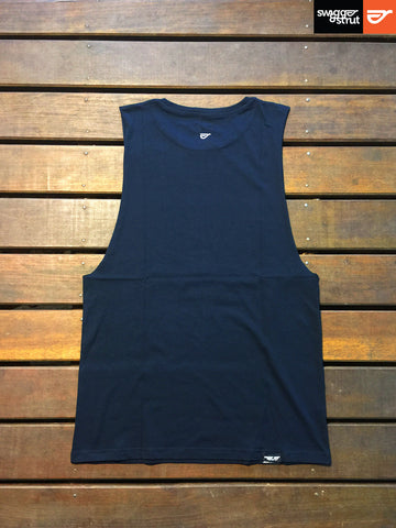 Navy - Female Regular Fit, Sleeveless Tank