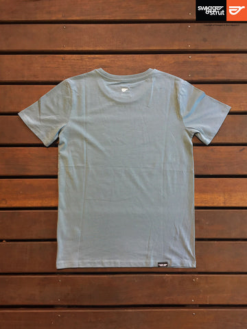 Citadel Blue - Male 100% Organic Round Neck T-Shirt