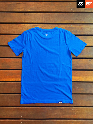 Royal Blue - Male 100% Organic Round Neck T-Shirt SS