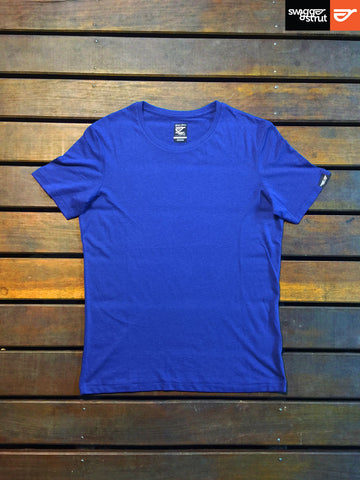 Navy - Female 100% Organic Round Neck T-Shirt