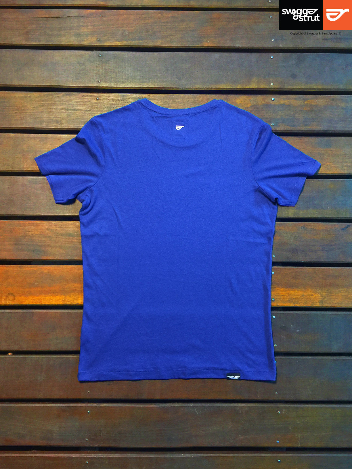 Deep Royal Blue - Male Fluid Round Neck T-shirt