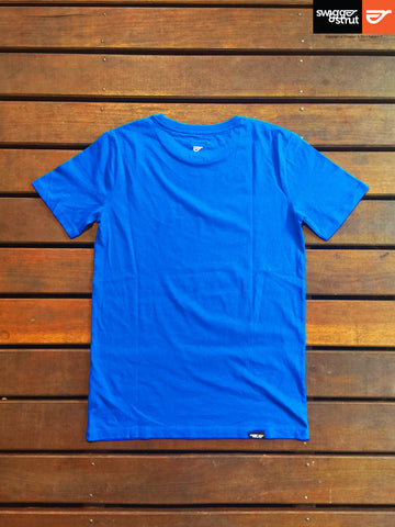 Royal Blue - Male 100% Organic Round Neck T-Shirt