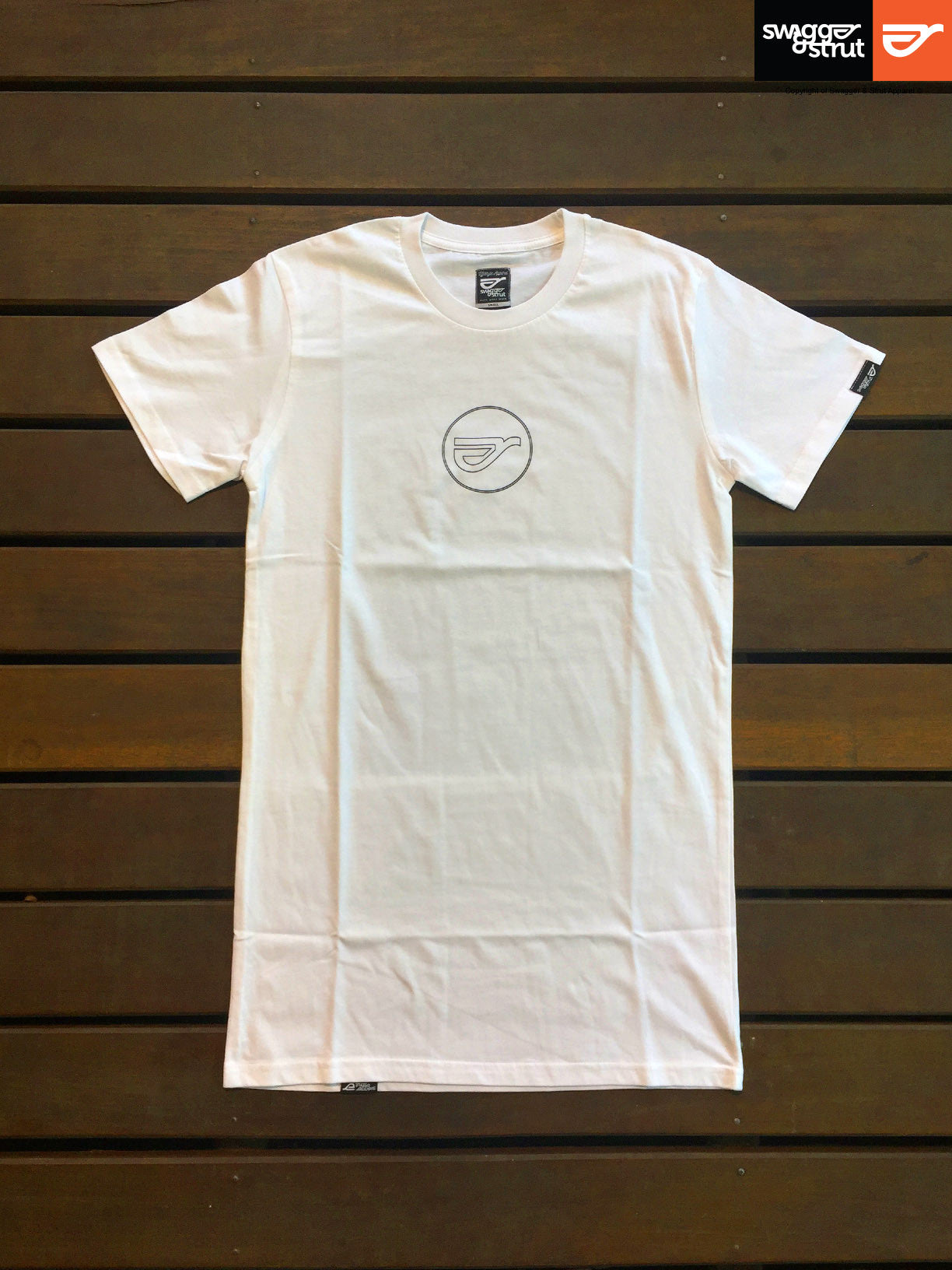 White Tall Tee - Male Regular Relax Fit T-Shirt
