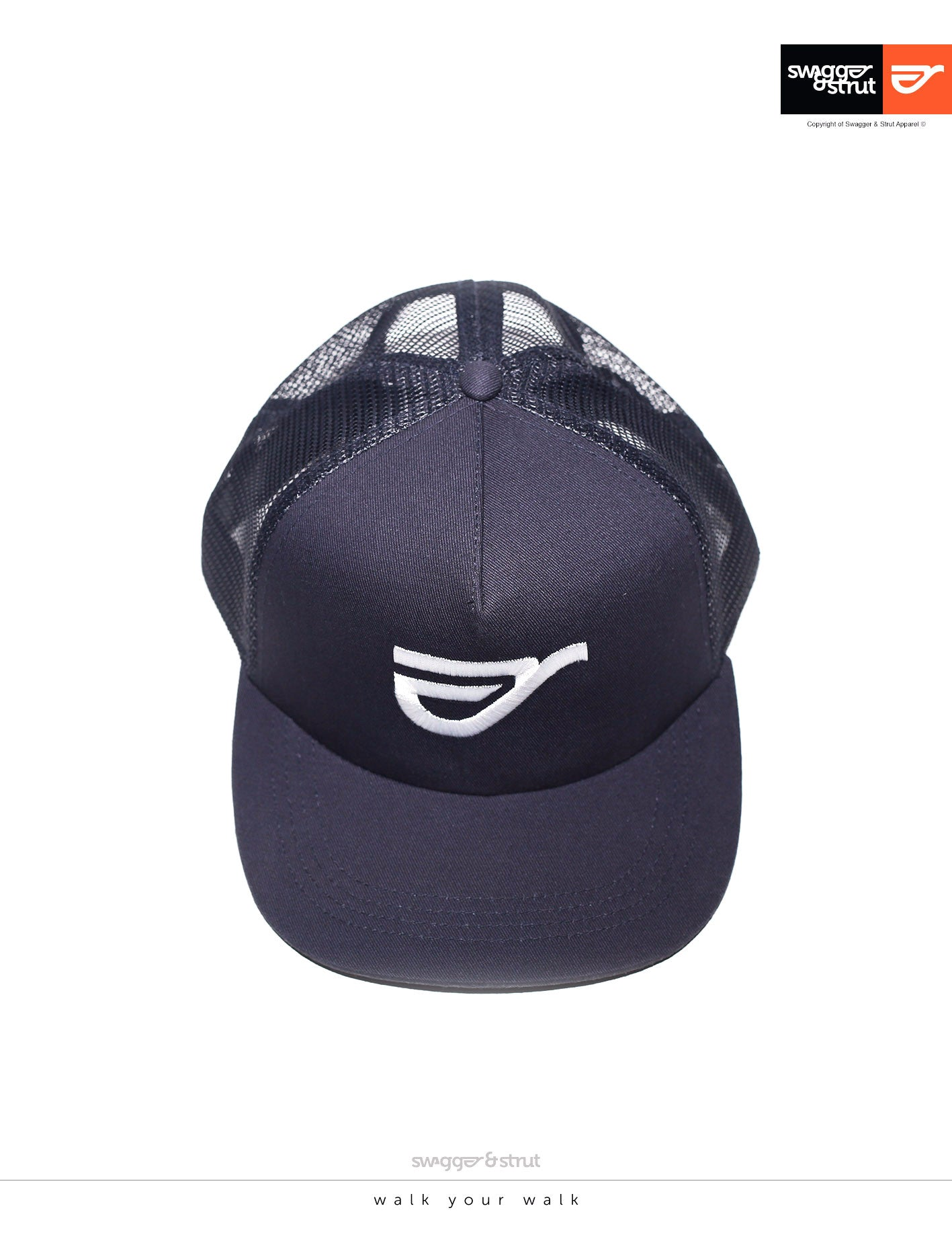 Navy Trucker Cap by Swagger and Strut