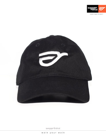 Swagger & Strut Logo DAVIE SIX PANEL CAP - Black