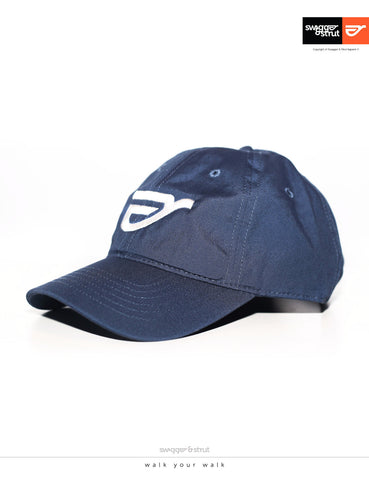 Swagger & Strut Logo DAVIE SIX PANEL CAP - Blue