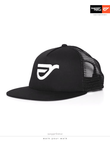 Ride Logo TRUCKER CAP in Black