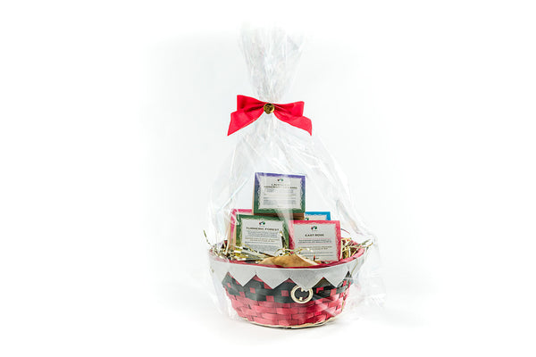 Bath Bomb Gift Basket - Set of Five Vegan Bath Bombs