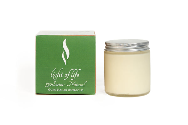 550 Minutes Soy Wax Candle - Natural