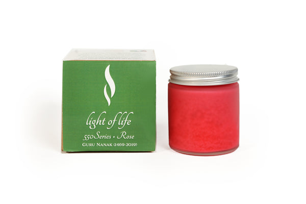 550 Minutes Soy Wax Candle - Rose