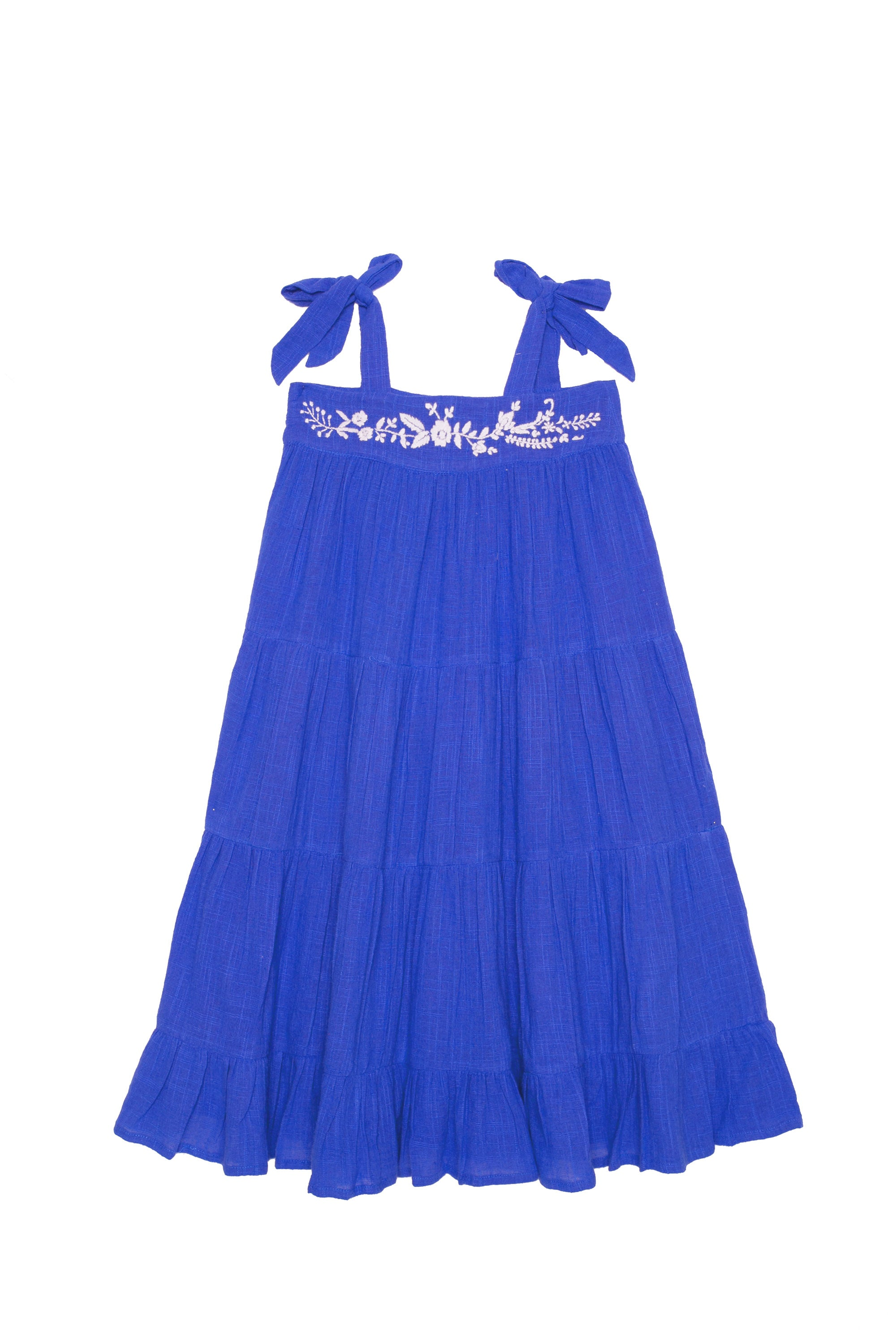 April Dress Sapphire with Hand Embroidery (Mama)