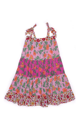 Isadora Dress Porcelain Indian Flowers
