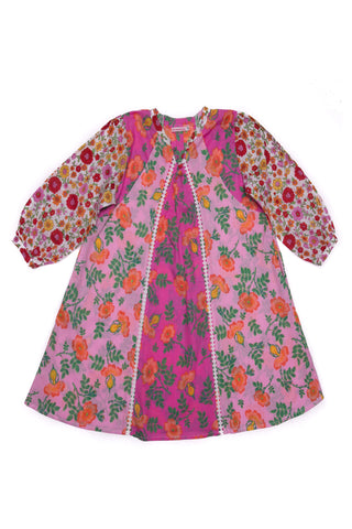 Magnolia Playsuit Papaya with Embroidery