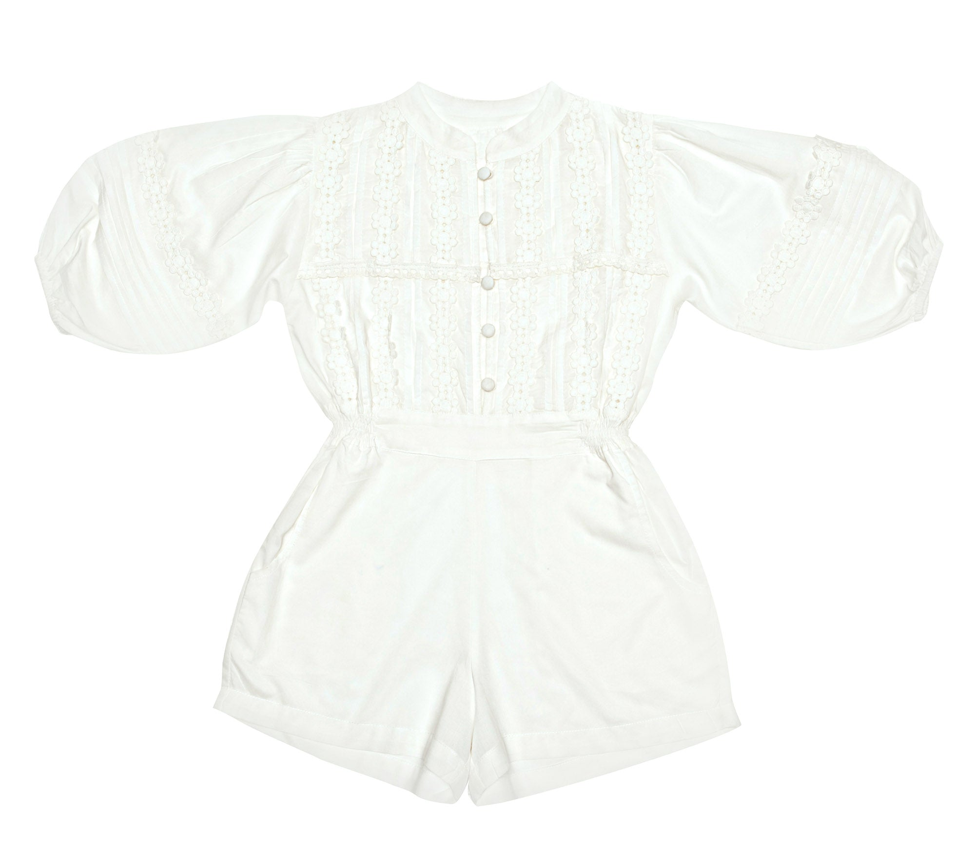 Boheme Playsuit Gardenia and Lace