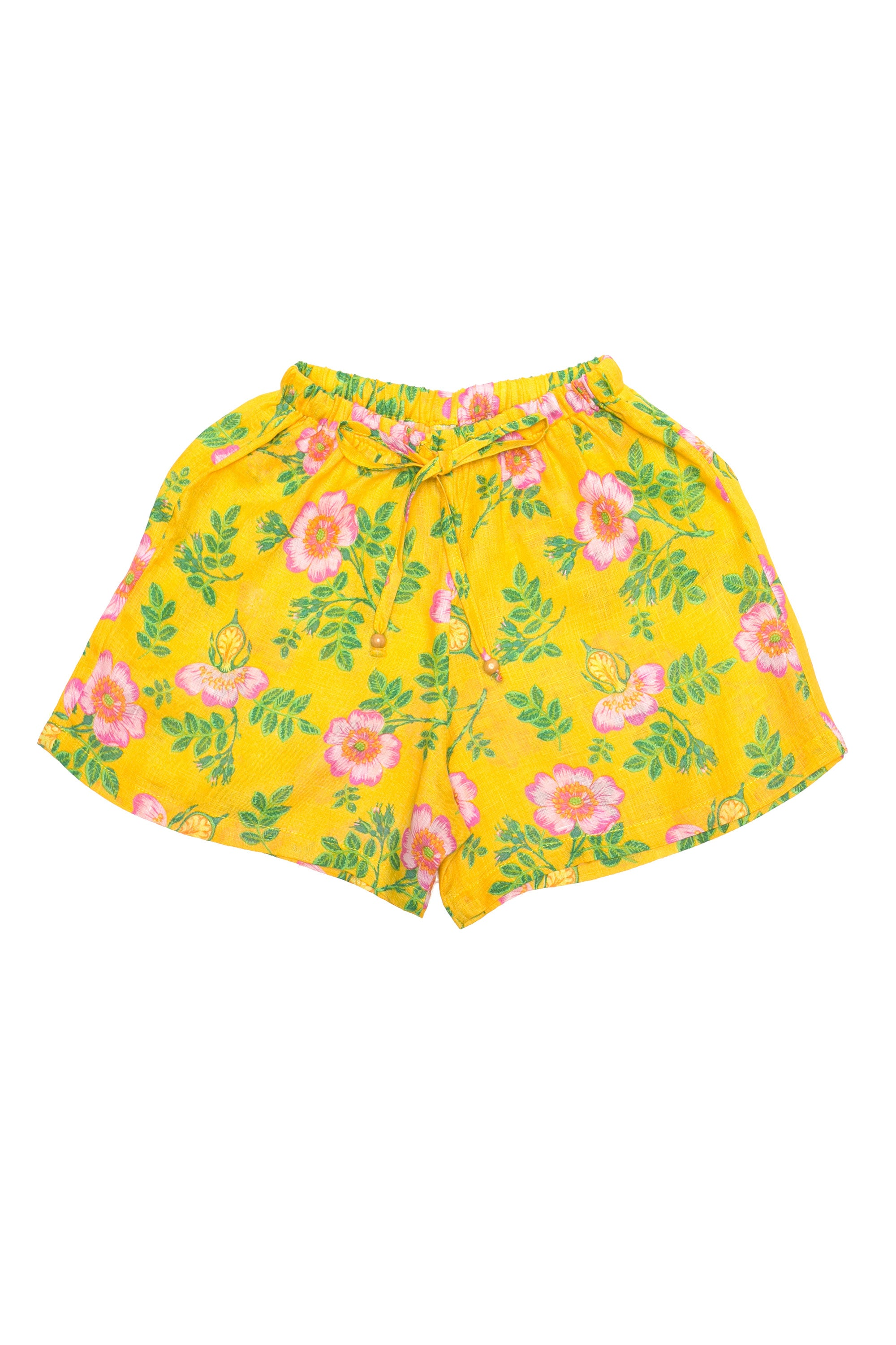 Briar Shorts Yellow Dogwood Rose