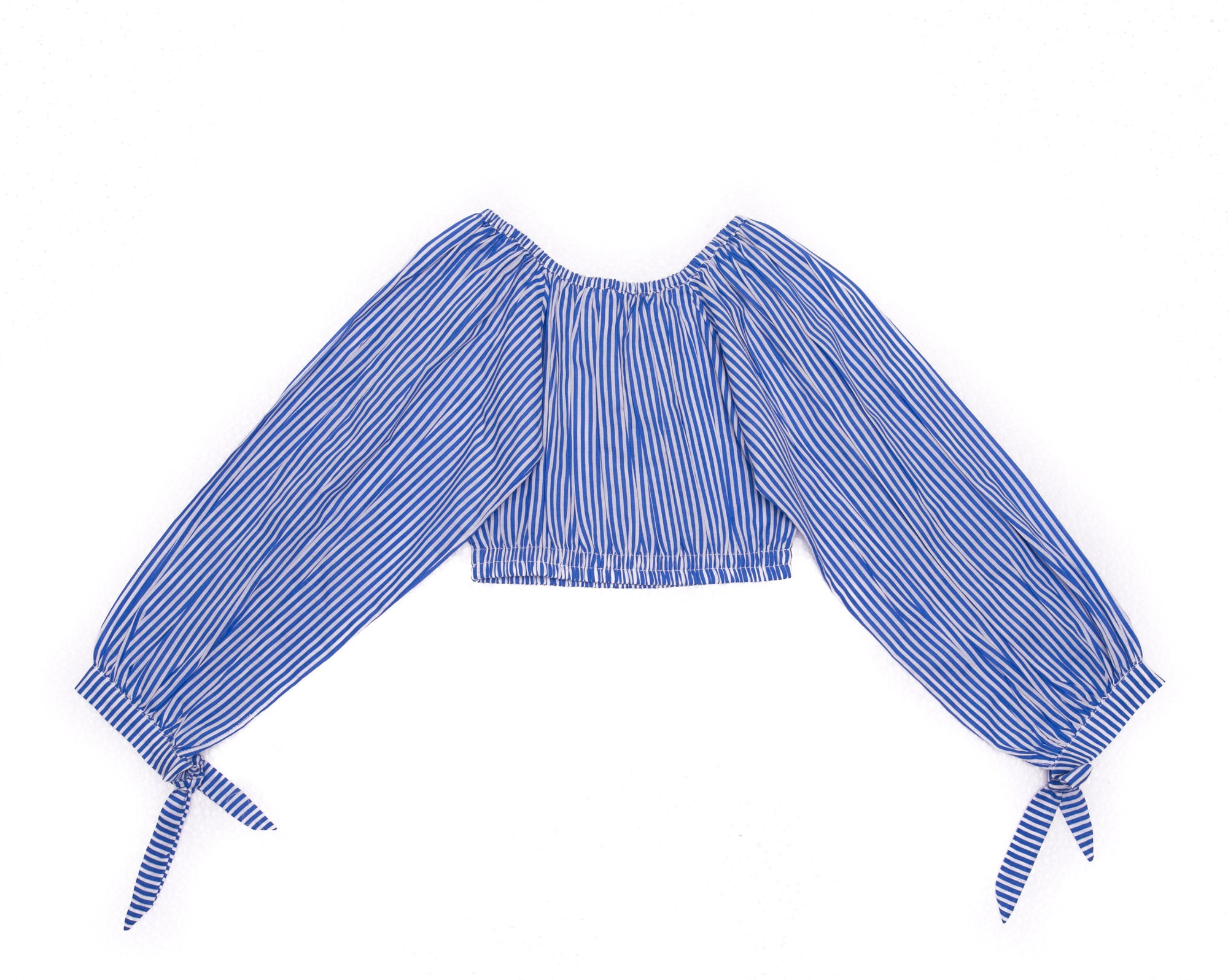 Claudette Crop Azure Stripe (Tween/Teen)