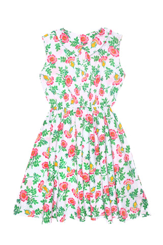 Hera Dress Linen Emerald Dahlia (Tween/Teen)
