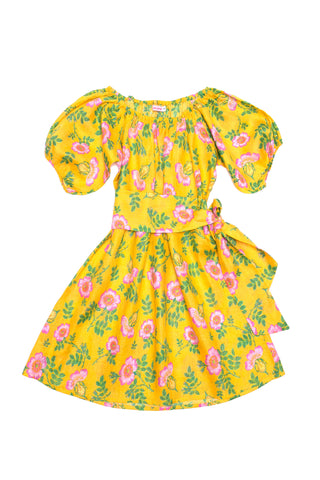 Hera Dress  Yellow Dogwood Rose