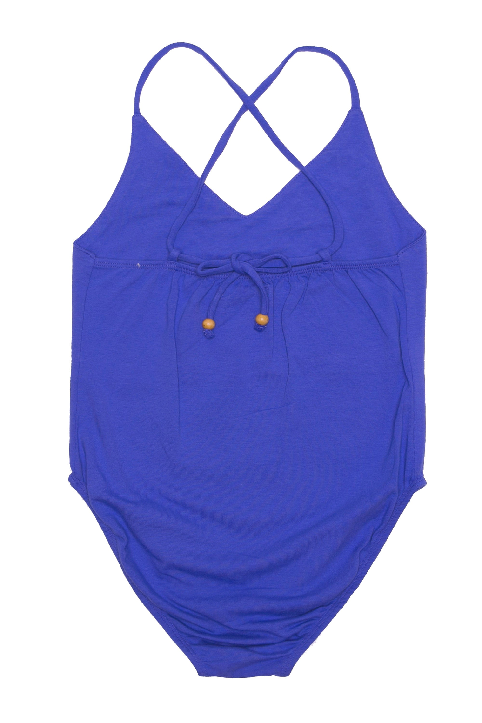 Honey Leotard Sapphire with Hand Embroidery